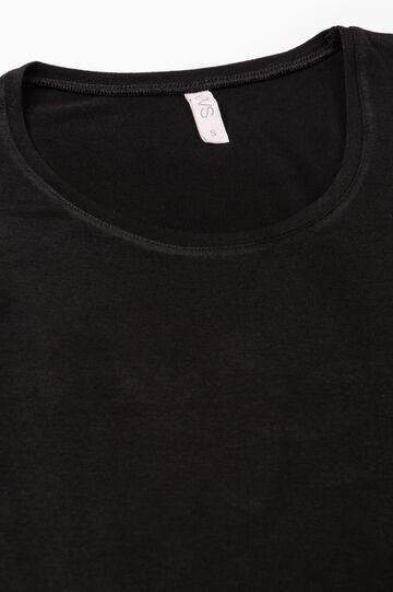 T-shirt intima stretch maniche lunghe, Nero, hi-res