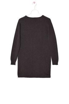 100% cotton cardigan with pockets, Dark Grey, hi-res