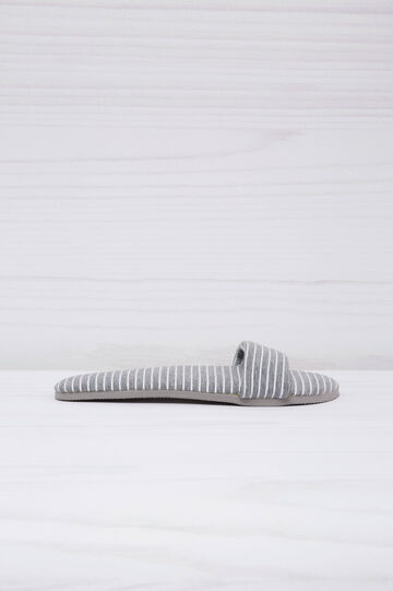 Striped slippers, Grey Marl, hi-res