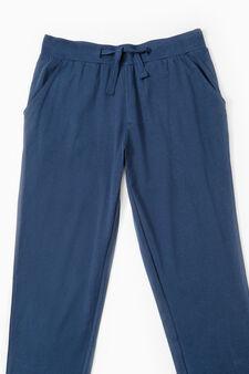 Cotton pyjama trousers, Navy Blue, hi-res