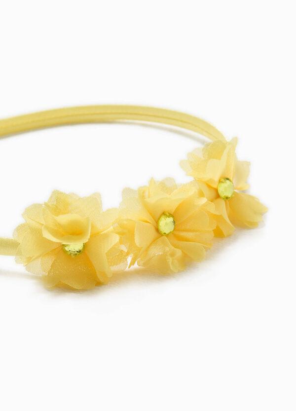 Cerchietto per capelli con fiori e strass | OVS