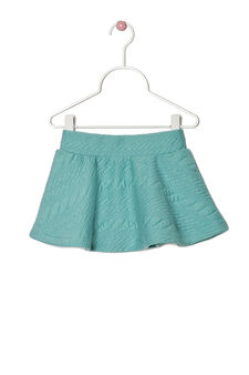 Stretch solid colour skirt, Green, hi-res