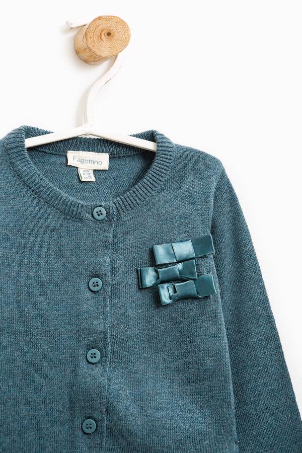Cardigan cotone con fiocchetti | OVS