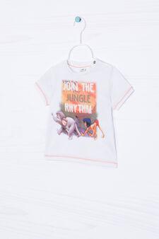 T-shirt puro cotone Disney, Bianco sporco, hi-res