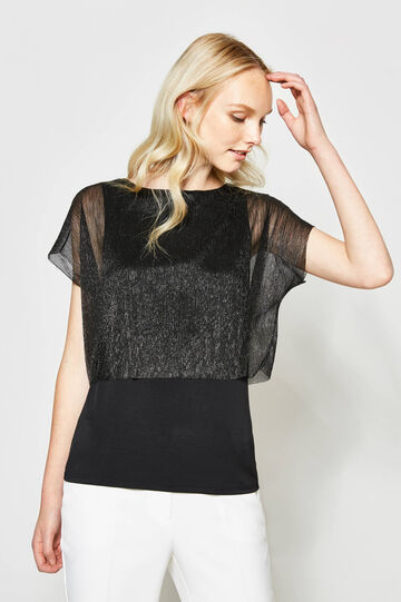 Glitter T-shirt in stretch viscose