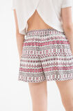 Shorts stampa all-over Maui and Sons, Bianco, hi-res