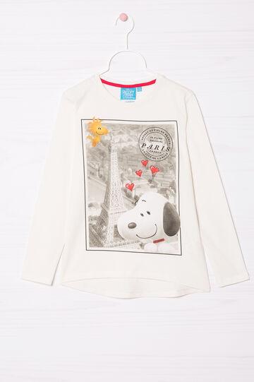 Snoopy print T-shirt, White, hi-res
