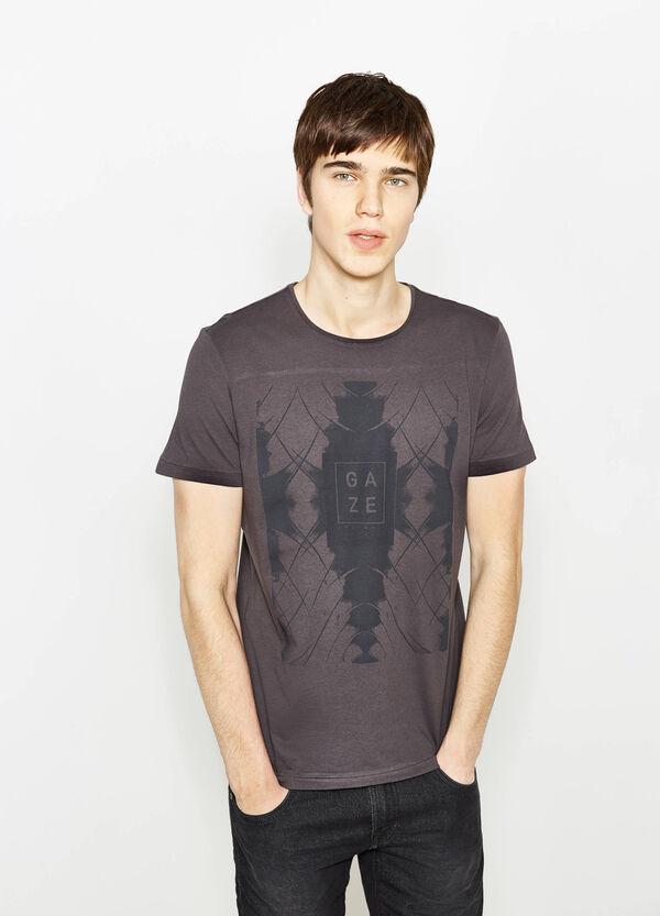 Camiseta de algodón con estampado delante y detrás   OVS