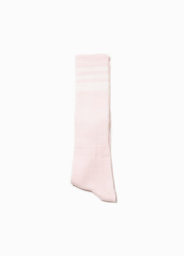 Long cotton socks with ribbing | OVS
