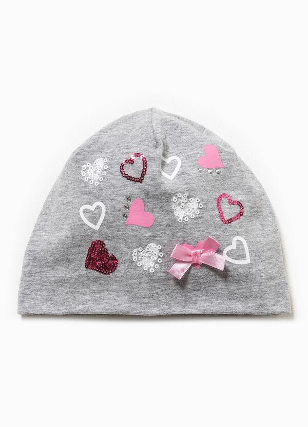 Cappello a cuffia con paillettes e strass | OVS