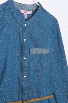 Printed denim T-shirt, Blue, hi-res