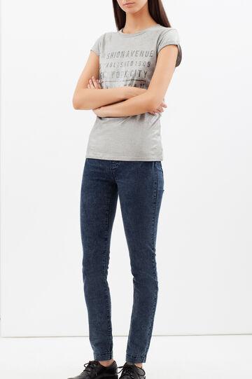 Skinny fit stretch jeggings, Dark Blue, hi-res