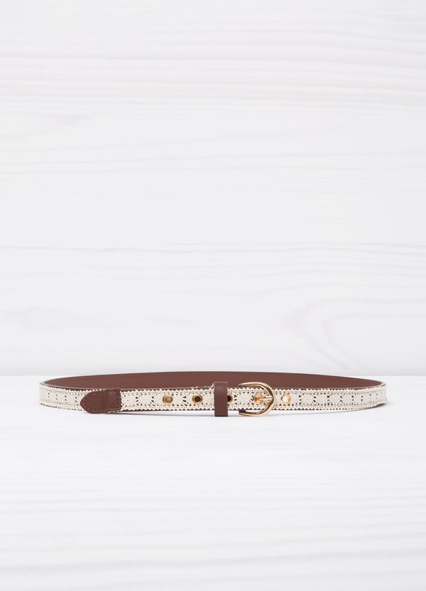 Belt with contrasting colour insert | OVS