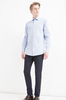 Regular fit shirt in 100% cotton, Light Blue, hi-res