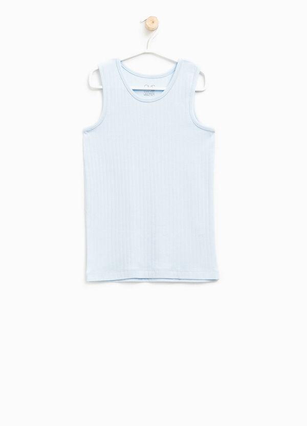 Camiseta de tirantes interior en canalé de algodón 100% | OVS