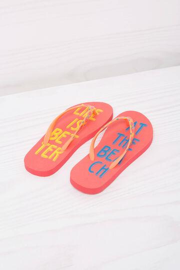 Printed thong sandals.
