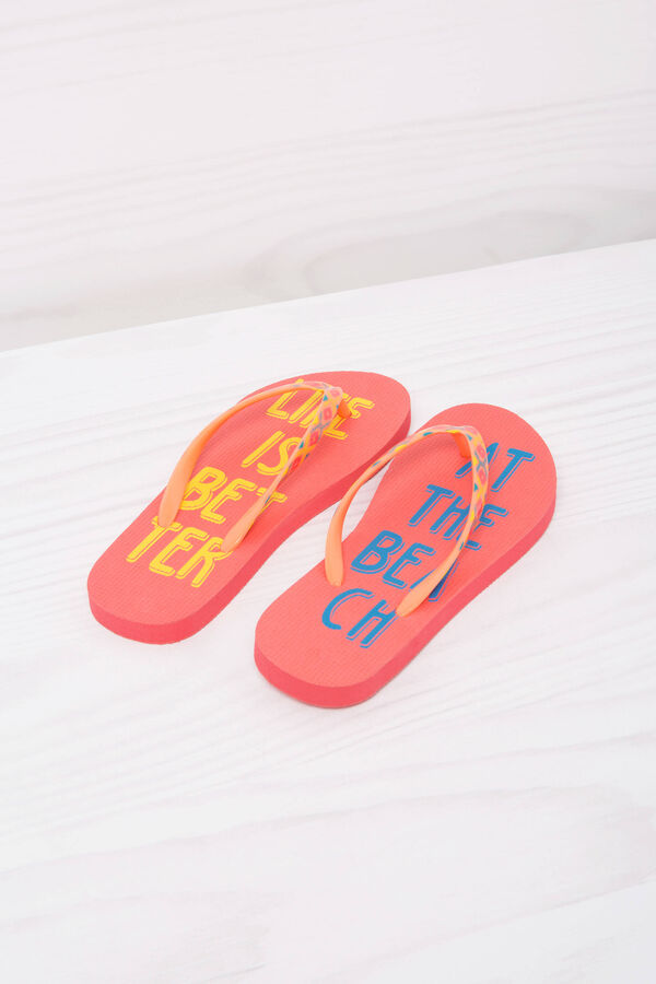 Printed thong sandals. | OVS
