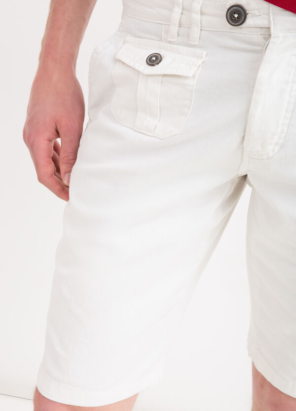 100% cotton Bermuda chinos with drawstring | OVS