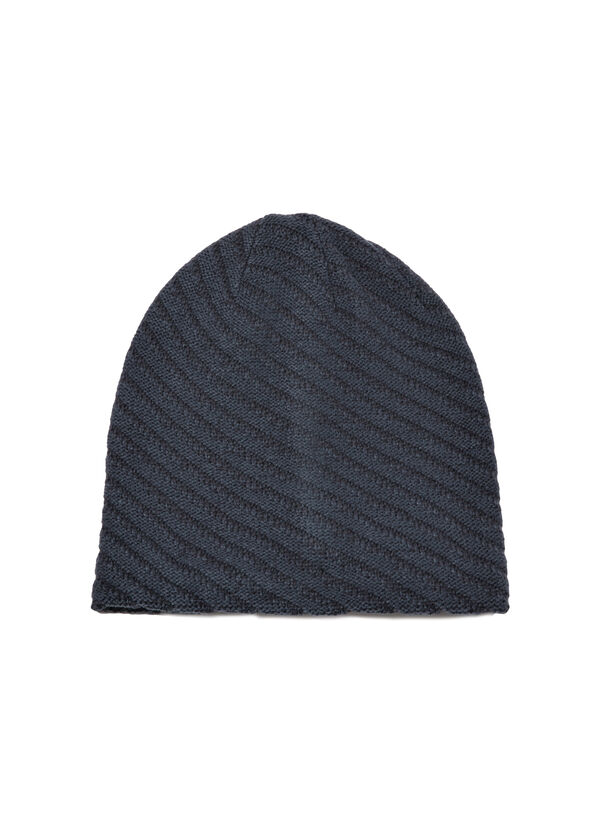 Striped-pattern beanie cap | OVS