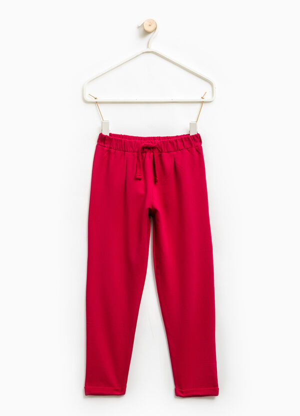 Stretch trousers with drawstring | OVS