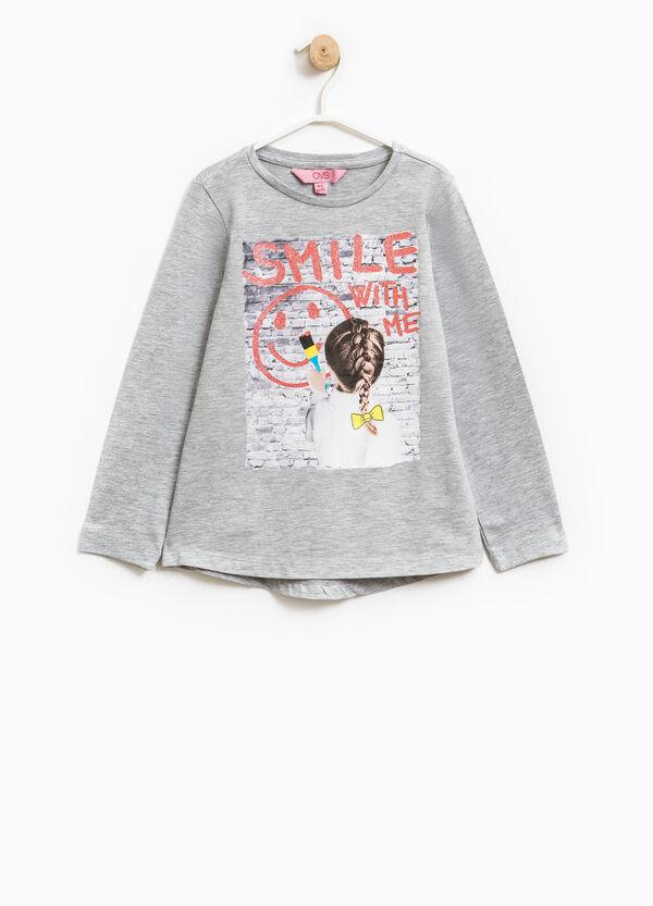 Long-sleeved T-shirt with asymmetric hem | OVS