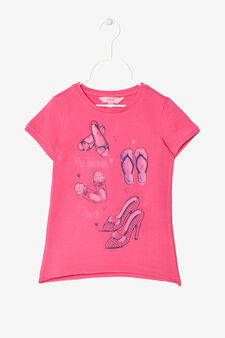 Printed T-shirt, Fuchsia, hi-res