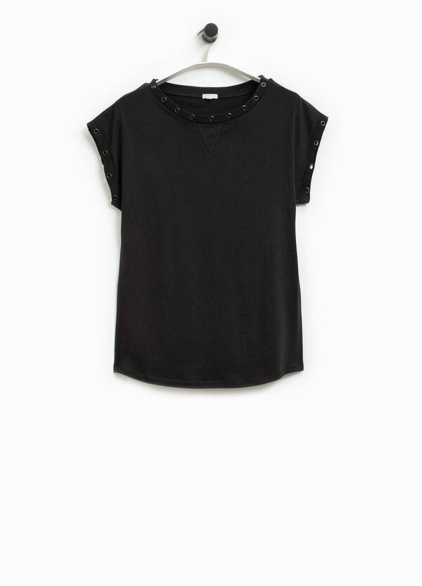 Smart Basic T-shirt with eyelets | OVS