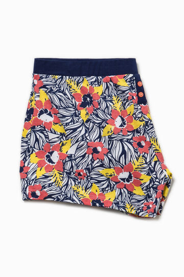 Floral patterned pyjama shorts