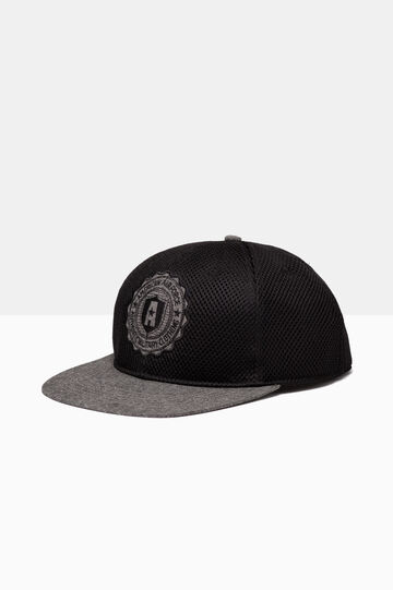 Baseball cap in padded mesh, Black, hi-res