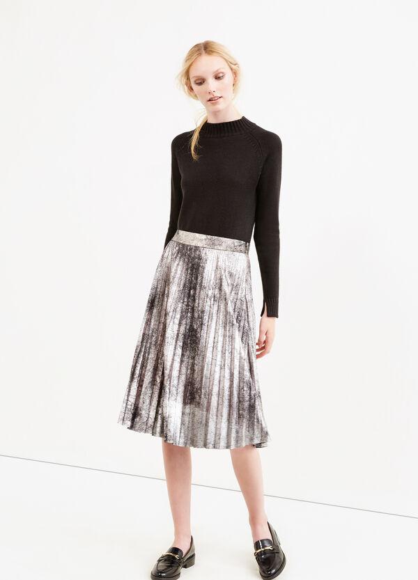 Pleated lined midi skirt | OVS