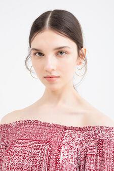 100% viscose dress with print, Red, hi-res