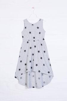 Cotton blend sleeveless dress, Grey, hi-res