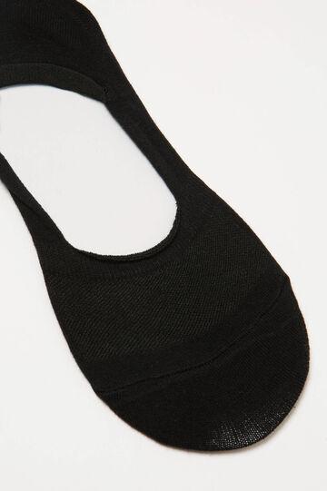 Solid colour stretch shoe liners, Black, hi-res