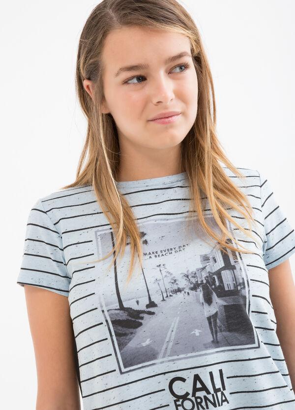 T-shirt cotone fantasia righe Teen | OVS