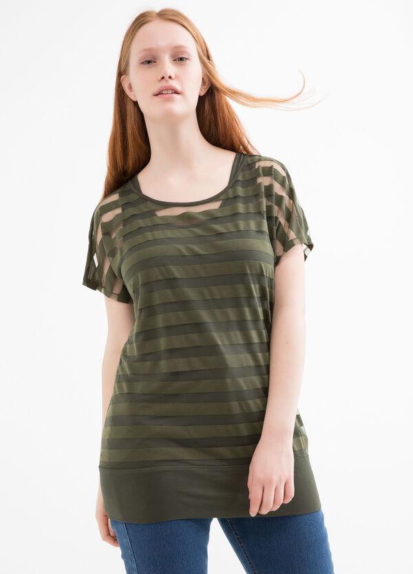 T-shirt finto doppio a righe Curvy | OVS