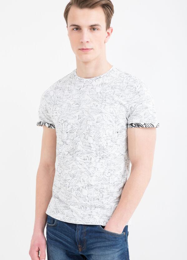 T-shirt cotone girocollo fantasia | OVS