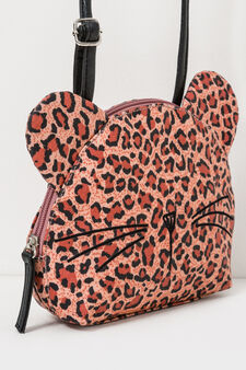 Animal patterned shoulder bag, Brown, hi-res