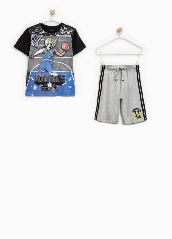Completo t-shirt stampata e bermuda   OVS