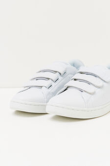 Solid colour sneakers, White, hi-res