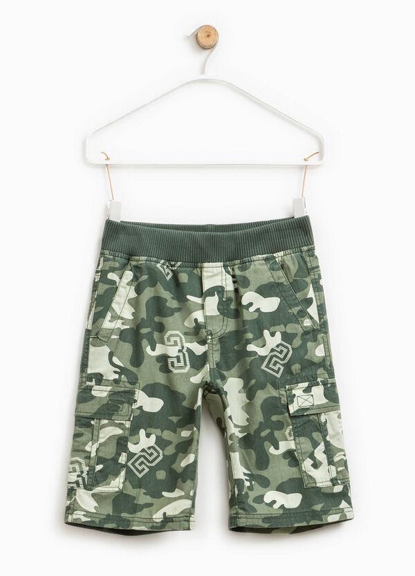 Camouflage cargo Bermuda shorts | OVS