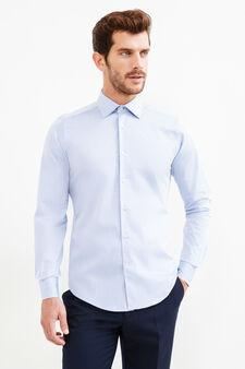 Camicia formale slim fit colletto francese, Blu chiaro, hi-res