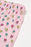 Printed cotton pyjama shorts, Pink, hi-res