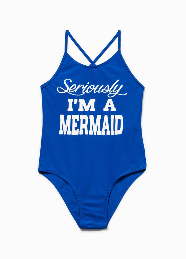 One-piece swimsuit with lettering print | OVS