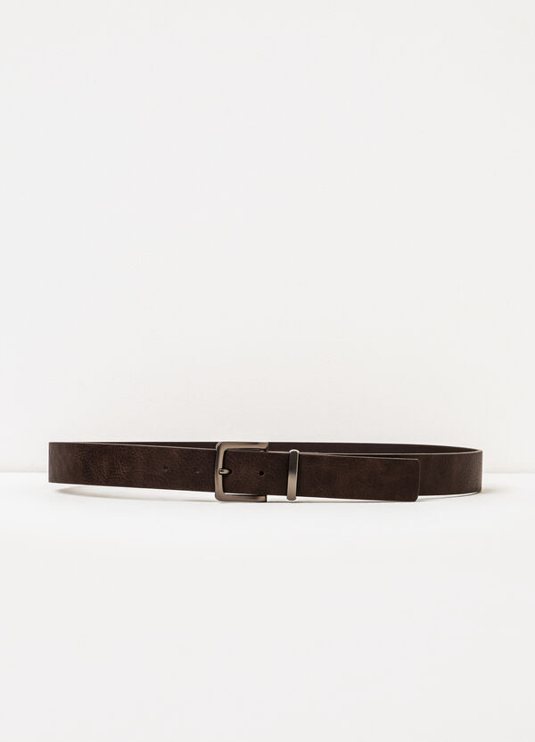 Solid colour belt with single loop | OVS