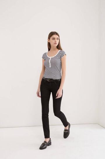 Skinny-fit stretch jeans, Black, hi-res