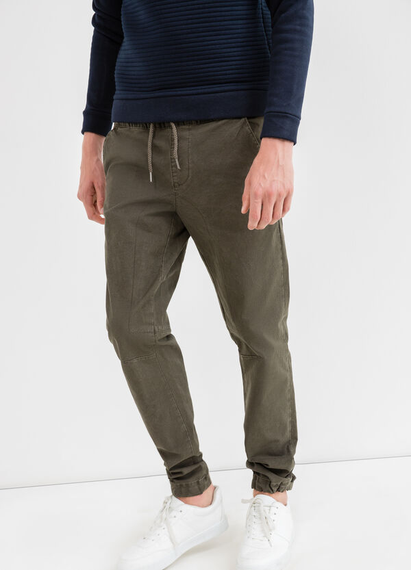 Pantaloni jogger fit cotone stretch | OVS