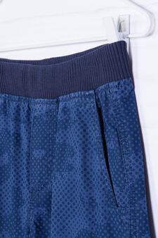 Camouflage pattern Bermuda shorts, Blue, hi-res