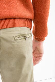 Pantaloni chino premium slim fit, Verde oliva, hi-res