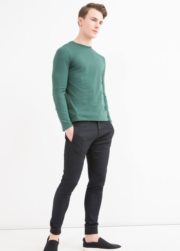 Long-sleeved cotton T-shirt | OVS