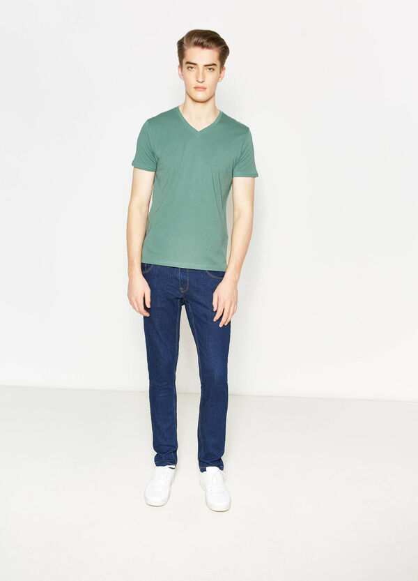 Ribbed neck T-shirt | OVS